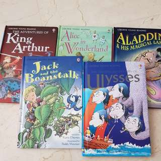 Usborne young reading hard cover books