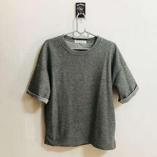 grey textured shirt