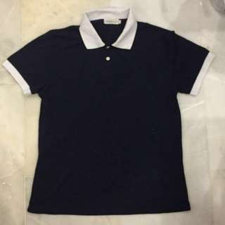 Navy Polo White Collar - XL size