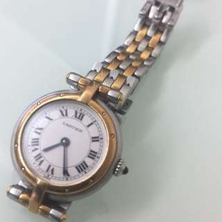 Cartier Panthère Vendôme watch in gold and stainless steel Circa 1980
