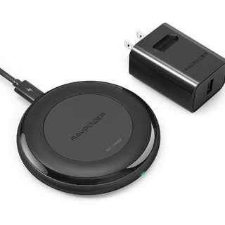 RAVPower Fast Wireless Charger for iPhone 8 / 8 Plus / iPhone X QI Wireless Charging Pad for Samsung Galaxy S8 Note 8 S8 Plus S7 S7 Edge S6 and All Qi-Enabled Devices (QC 3.0 Adapter Included)