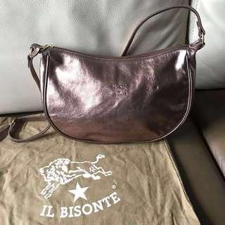 IL Bisonte 特別版金屬色手袋