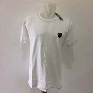 White CDG T-Shirts