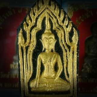 RARE PHRA KHUN PAEN 1ST BATCH BE2547 LP THONG DUM  WAT THAM TAPIAN THONG, SRI SAKET BACK WITH 5 TAKRUT & GEMS