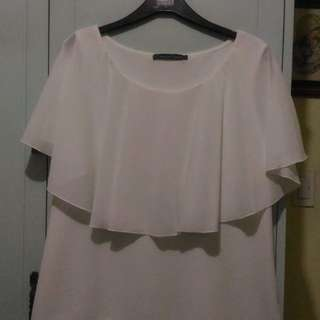 PLUS SIZE French Curve White Blouse