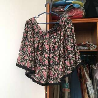New Look Roses Skirt size XL