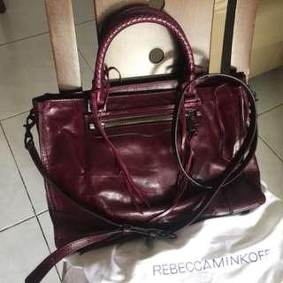Almost New RebeccaMinkOff Leather Bag (Regan Satchel)