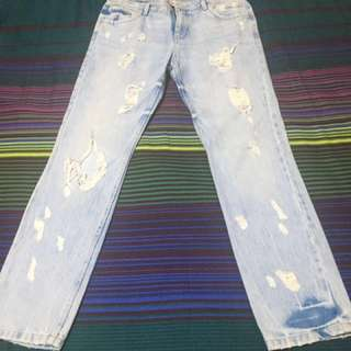 ZARA tattered jeans