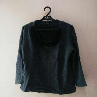 Dark Gray Formal Top
