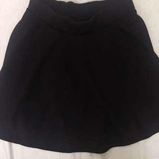黑色褲裙鬆緊腰