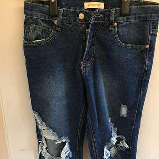 Denim ripped jeans 爛牛 破洞牛仔褲
