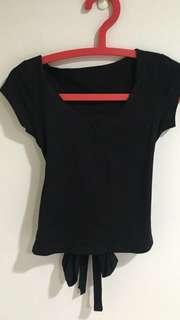 黑色小心機T恤