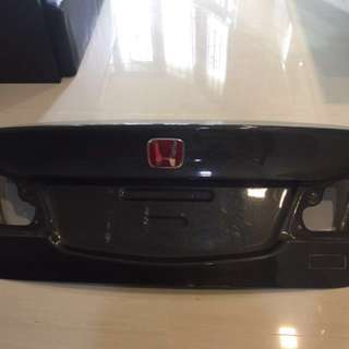 Carbon fiber rear boot civic fd