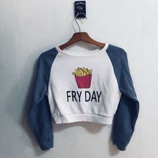 Fry Day crop top long sleeve