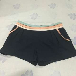 Blue Shorts With Pastel Linings