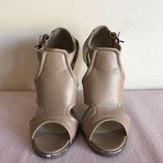 Beige Cut Out Heels