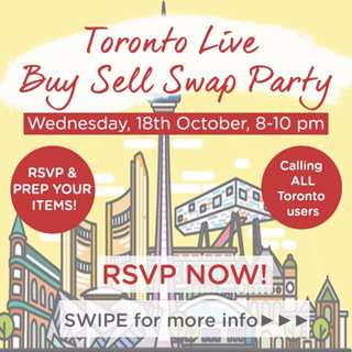 Toronto Live Buy-Sell-Swap Party