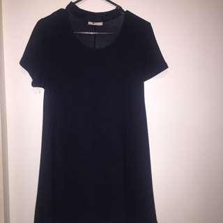 Dark navy Blue Skater Dress With A Choker ( Its A Mini Short Dress)