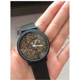 全新 3D 創意 立體 經典復古 金砂碎石 手錶