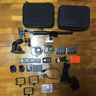 GoPro 4 Silver with Tons of Accessories