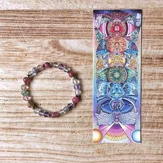🇺🇸Fluorite Bracelet 七彩螢石手鍊搭配銅珠