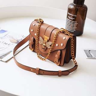 Brown bee brand designer bag