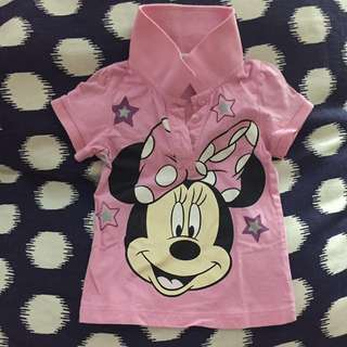 Preloved Disney Minnie Mouse Collar Shirt