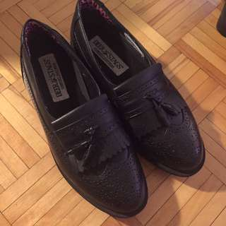 Real leather loafers size w9