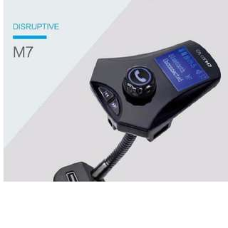 M7 Bluetooth Fm Transmitter 3 USB In Car Charger MP3 Player Handsfree