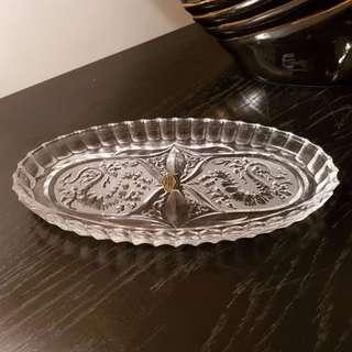 Lovely Handmade Crystal Tray / Dish