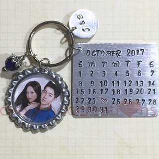 Hand Stamped Calendar Wedding Souvenirs 02