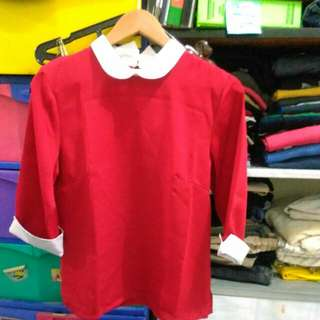 Cotton Ink Red Shirt