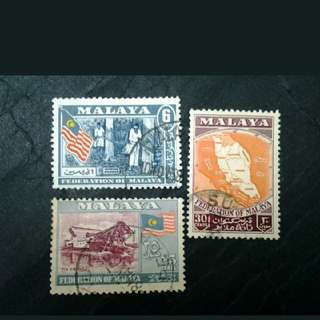 Federation Of Malaya 1957 General Issue Loose Set Short Of 12c - 3v Used Stamps #1