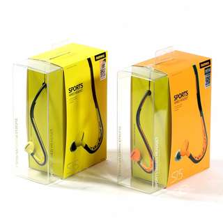 REMAX RM-S15 Sport Wired Headphone with 3.5mm, Volume Control for All Smartphone - Orange, Yellow
