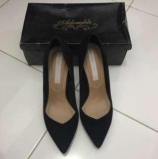 Bershka Black High Heels Shoes Size 38