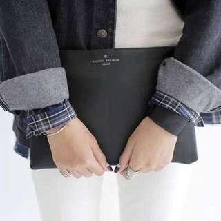 #Deepavali50 Simple Leather Clutch