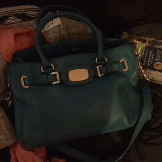 Beautiful authentic MK teal hand bag