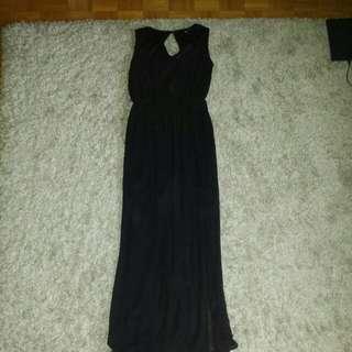 New: ASOS US Size 6 Black Dress with Side Slit