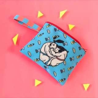 🚚 麥考艾裘 手提包 收納包 化妝包 相撲蘋果圖案 台灣製