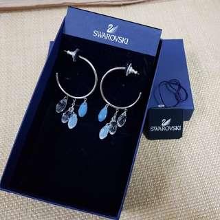 SALE Swarovski Lagoon air blue hoop earrings (negotiable)