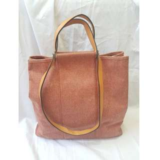 Herm Handbag Canvas Pink