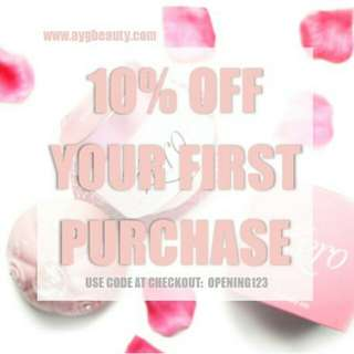 10% off first purchase