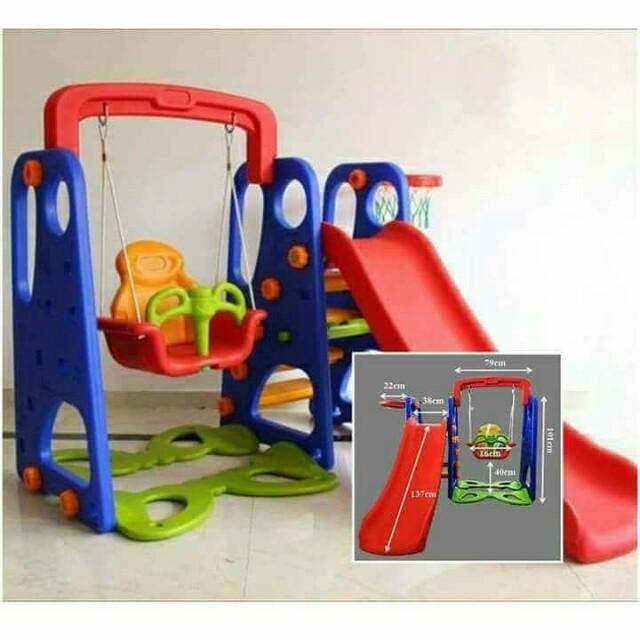3 in 1 slide/ swing/ basketball ring
