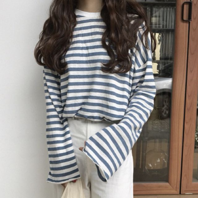 藍色條紋衣