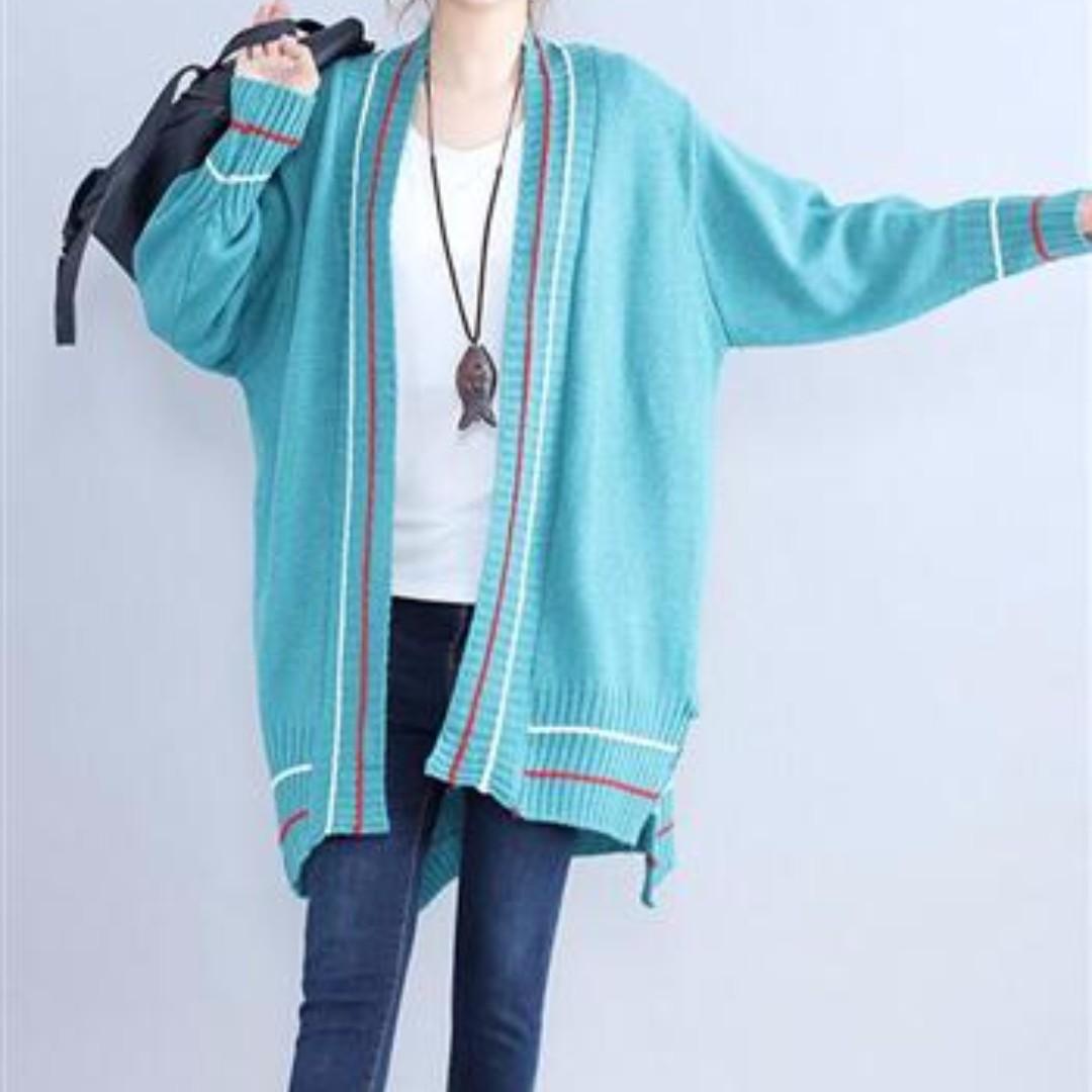 好精神亮點色系時尚韓版寬鬆顯瘦針織外套(二色)
