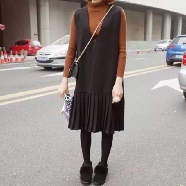 黑色背心洋裝