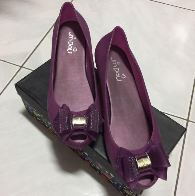 (含運)楔型淑女雨鞋