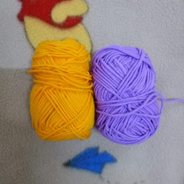 橘色/紫色毛線#交換最划算