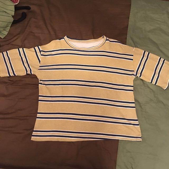 黃色條紋衣