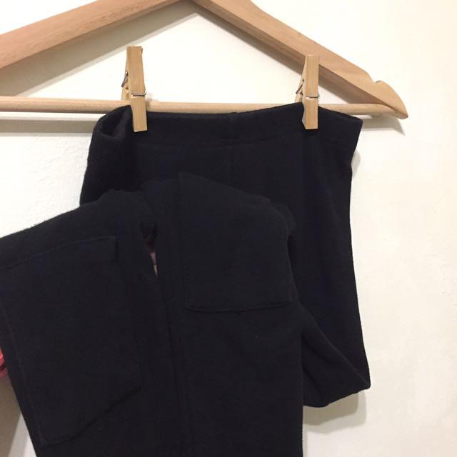 韓國購入 厚版膝蓋補丁內搭褲